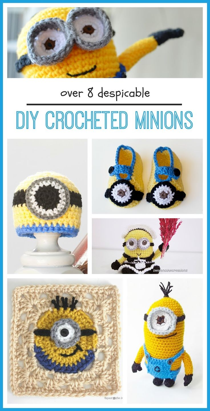 Jumping on the minion bandwagon and loving these minion crochet patterns!