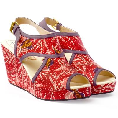 CANDI red - UP batik shoes