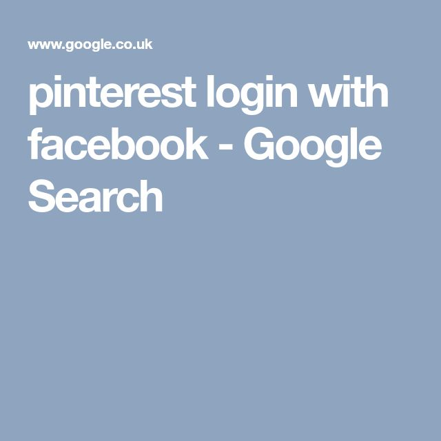 pinterest login with facebook - Google Search