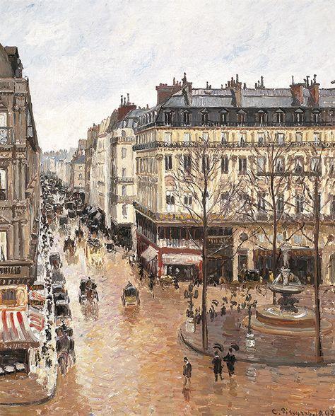 Camille Pissarro - Rue Saint-Honore, après-midi, effet de pluie.