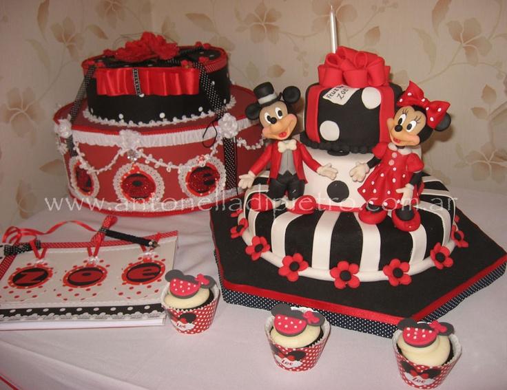 Torta y Cupcakes de Mickey y Minnie Mouse. Fiesta para niños. Kids ...