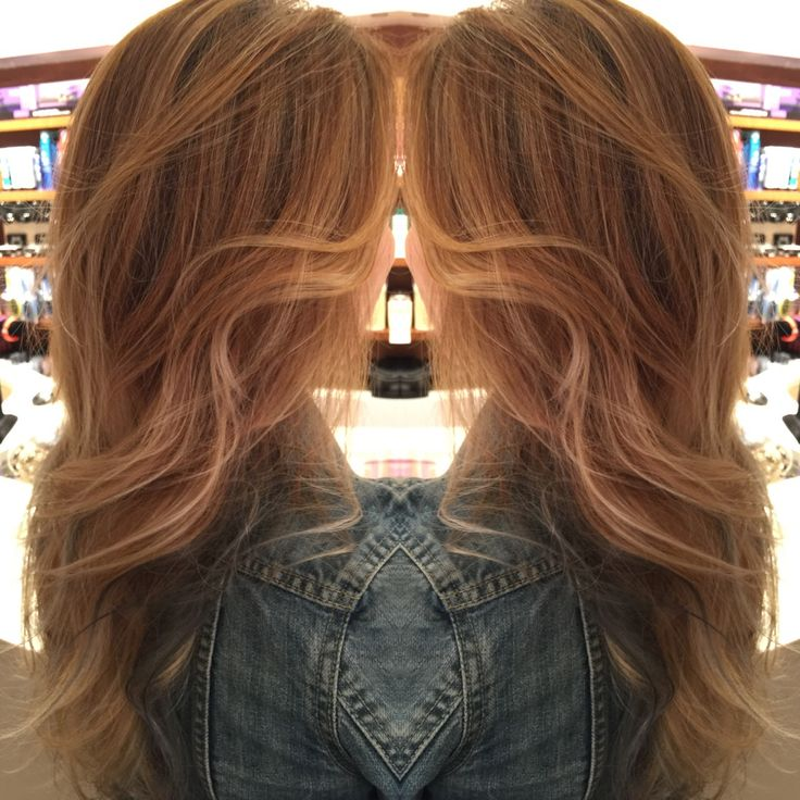 Balayage soft ombre blonde highlights with bohemian for 77 maiden lane salon