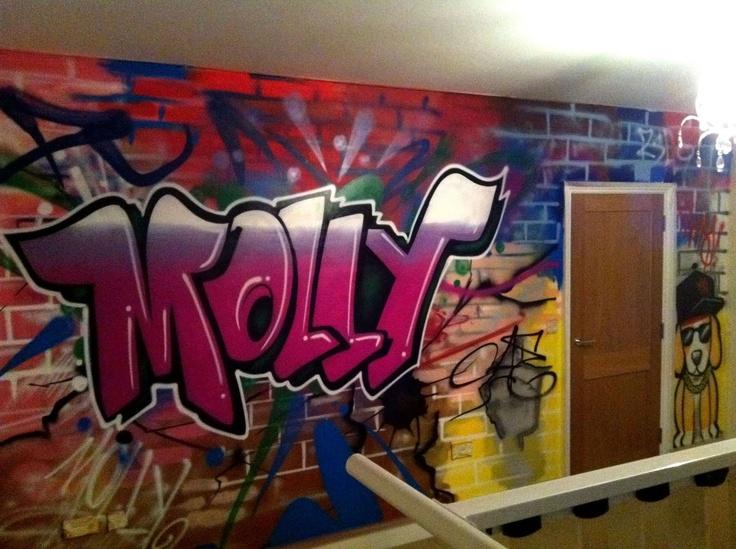 108 best kids bedroom graffiti images on pinterest kids - Painting graffiti on bedroom walls ...