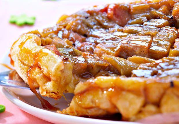 Tarte tatin à la rhubarbeVoir la recette de la Tarte tatin à la rhubarbe >>