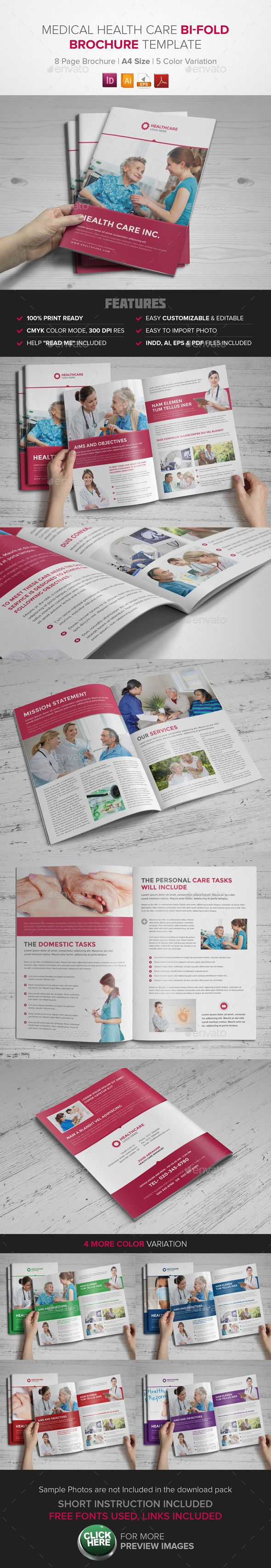 Medical Health Care Bifold Brochure - InDesign