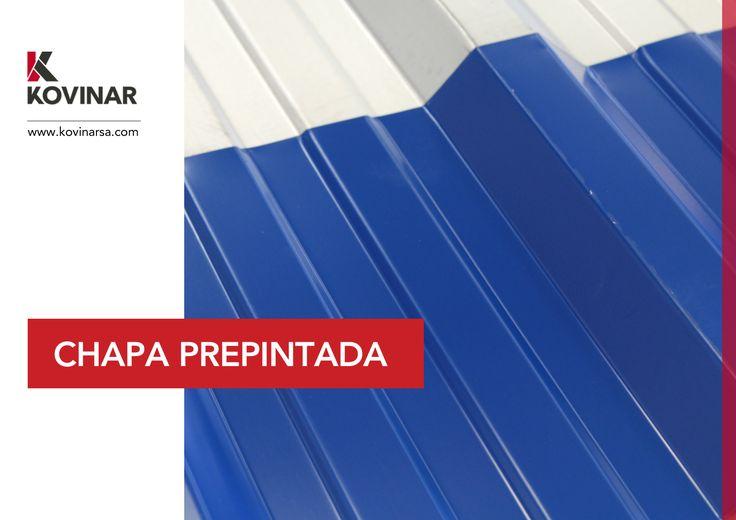 Chapa Prepintada en Kovinar S.A. Sinusoidal y Trapezoidal. Colores: Negro, Gris Pizarra, Rojo, Verde, Azul y Blanco.
