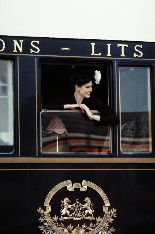 Orient Express about to depart from Paris.