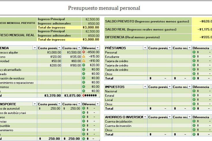 Planilla De Excel Para Presupuesto Anual Mensual Presupuesto Excel Hojas De Presupuesto Presupuesto Mensual Para Imprimir