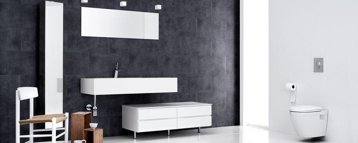Mano Bad - Store kvik Core- håndvasken er designet slik at den gjør grensen mellom vask og benkeplate til en rolig, flytende overgang - Vasken kan henge fritt på veggen - Kvik
