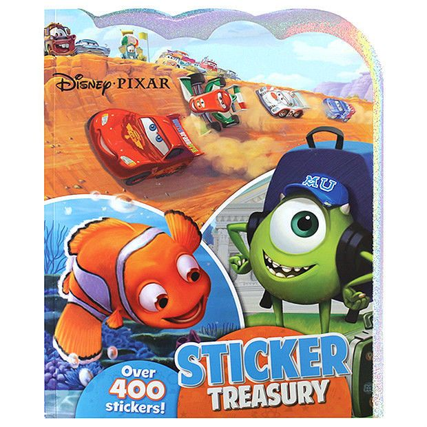 NEW Disney Pixar Stickers Treasury OVER 400 Stickers FAST & FREE Shipping*