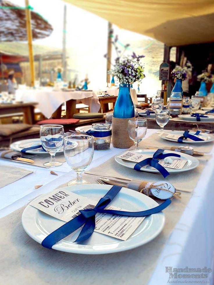 Decoraci n de mesa boda rustica en la playa anaya for Decoracion mesa rustica