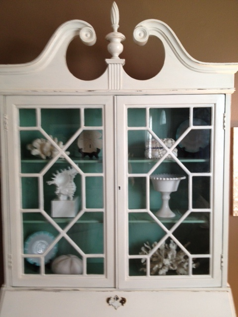 Antique Hutch Brought Back To Life With Sherwin Williams Paint Exterior Is Snowbound Interior