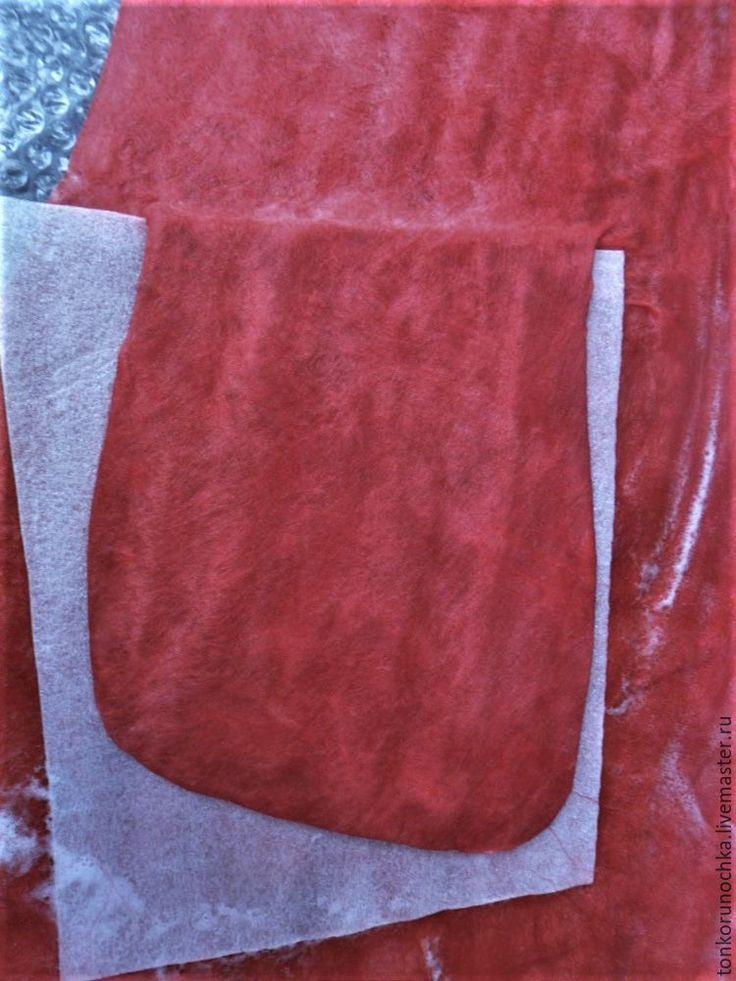 Как сделать красивый карман на валяных изделиях - Ярмарка Мастеров - ручная работа, handmade