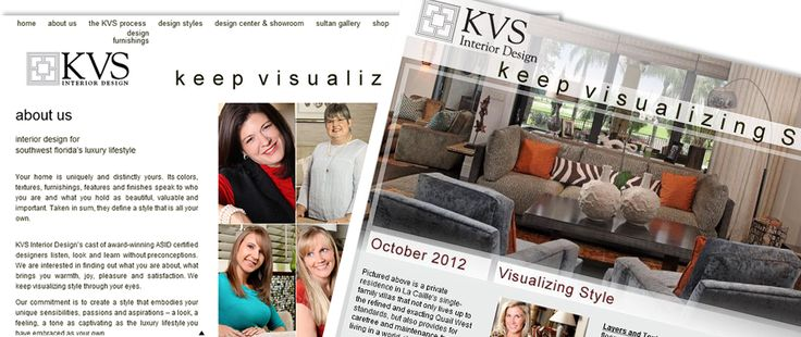 KVS Interior Design Custom Wordpress Website And E Newsletter Example