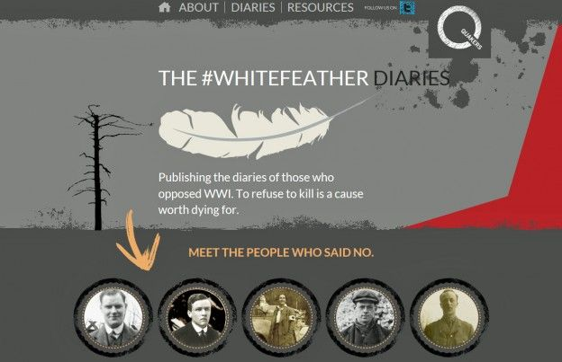 world first white feather cowardice
