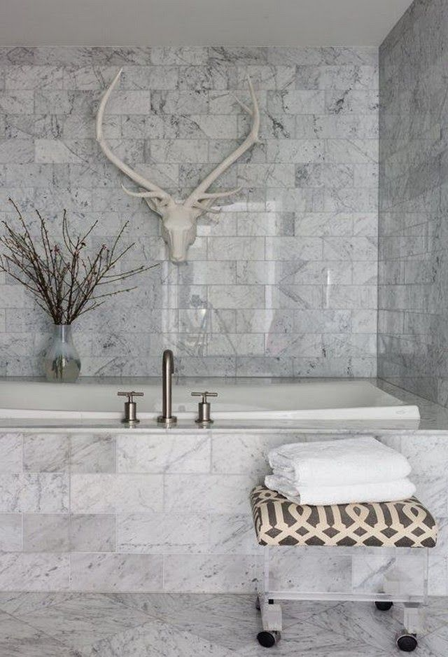 1000 ideas about tiled bathrooms on pinterest grey for Carrara marble slab remnants