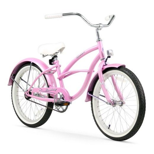 A great introduction to riding in style, the 20-inch single-speed Urban Kid cruiser Beach Cruiser Bicycle from Firmstrong is ideal for both children just learning to ride as well as those who have graduated from training wheels. It features 20-inch wheels as well as front and rear fenders, and training wheels (sold separately) can be attached to the Beach Cruiser Bicycle. The coaster brake stops by pedaling backwards, which is an easy and safe way for children to learn to ride. Sized for…