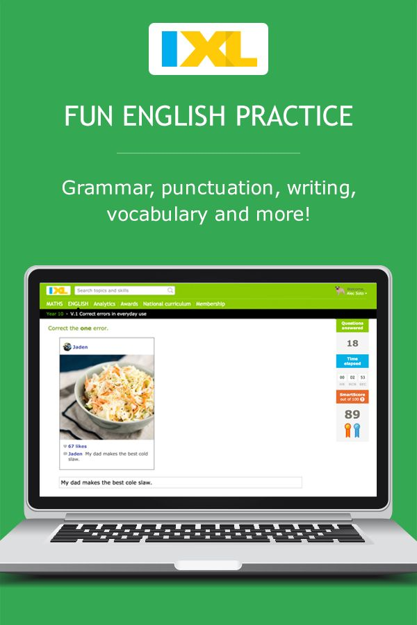 Welcome to IXL's grade 7 English page. Practise English online with unlimited questions in 105 grade 7 English skills.