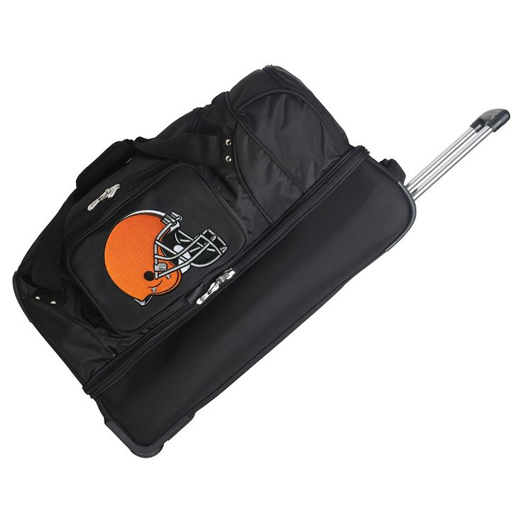 NFL Cleveland Browns Mojo 27 Rolling Drop Bottom Duffle Bag https://www.fanprint.com/licenses/cleveland-browns?ref=5750