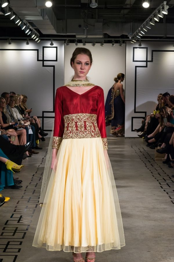 The Indian bridal couture collection having a touch of marsala