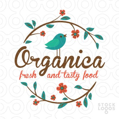 Exclusive Customizable Logo For Sale: Organica | StockLogos.com