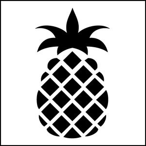 Stencils Pineapple Design And Stencil Patterns On Pinterest