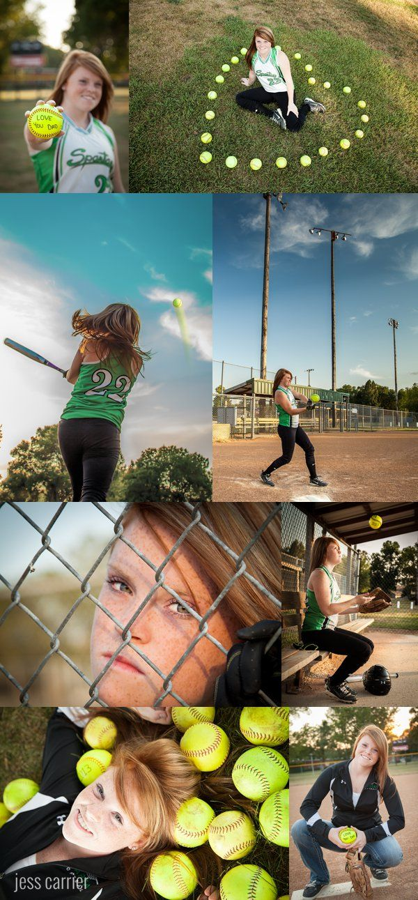 Softball Senior Photos - Batting, The Dugout, The Fence PERFECT