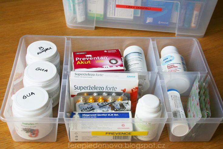 Terapie domova: Organizační série - Den 25: Léky, lékárnička a vše kolem