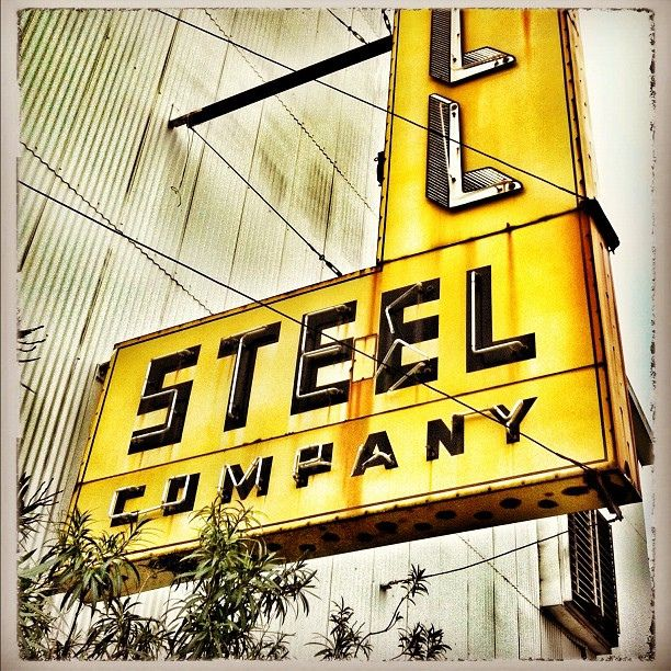 Vintage neon sign for Schill Steel Company, on 11th Street in Houston's Timbergrove area. by MOLLYBLOCK, via Flickr