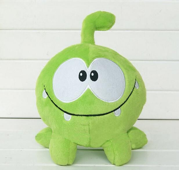 "2016 So Kawaii 7""20cm Om Nom Frog Plush Toys Cut the Rope Soft Rubber Cut the Rope Figure Classic Toys Game Lovely Gift for Kids"