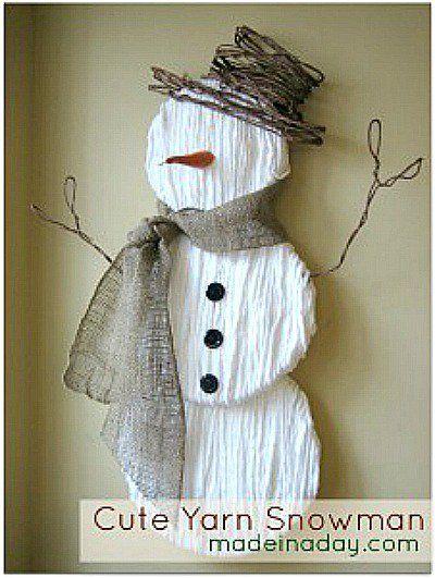 50 Amazing Snowman Craft Ideas Christmas Crafts Pinterest