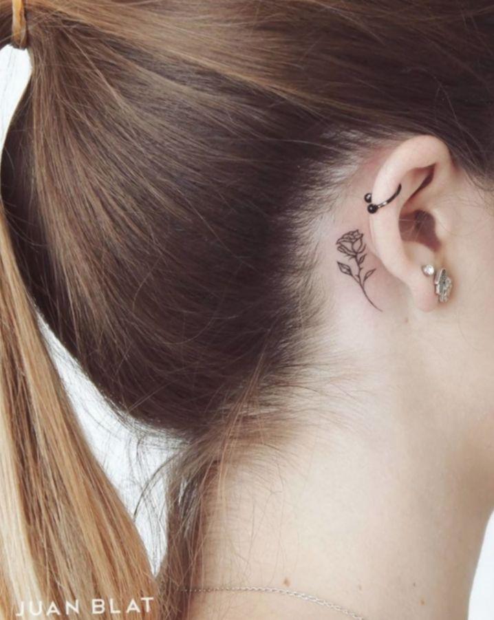 Tattoo Rose Small Ear Tattoo Occultarcana Wiccac Small Rose Tattoo Rose Tattoo Behind Ear Rose Tattoos
