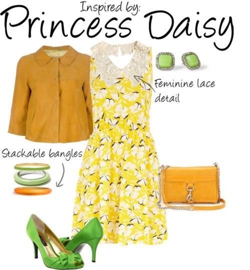 Inspired by Princess Daisy: Games Inspiration, Gamer Clothing, Princesses Daisy, Character Inspiration, Princesses Daisies, Videos Games, Inspiration Outfit, Daisies Mario, Inspiration Fashion