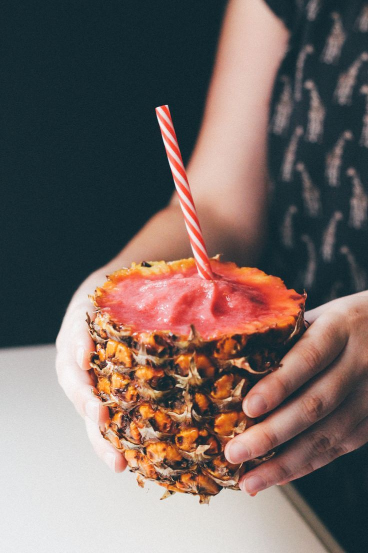 Incredible 4 ingredient watermelon raspberry pineapple smoothie. Healthy and so delicious!