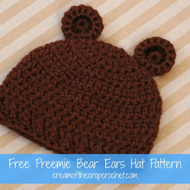 Bear Ears Hat ~ free pattern ? baby crochet Pinterest ...