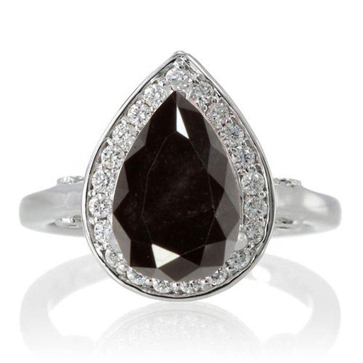 Image result for black diamond engagement rings