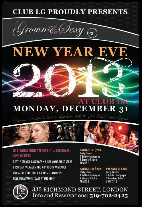 NYE London, ON  http://www.ticketscene.ca/events/7622/