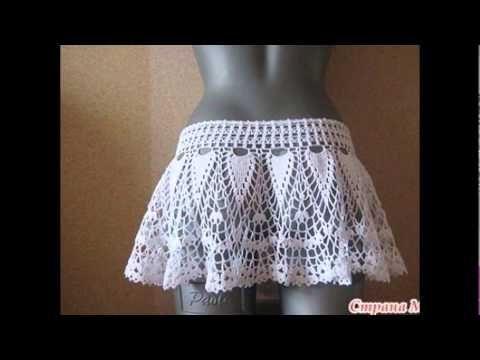 tutorial /Crochet shorts lace part 1-explains my friend diy - YouTube