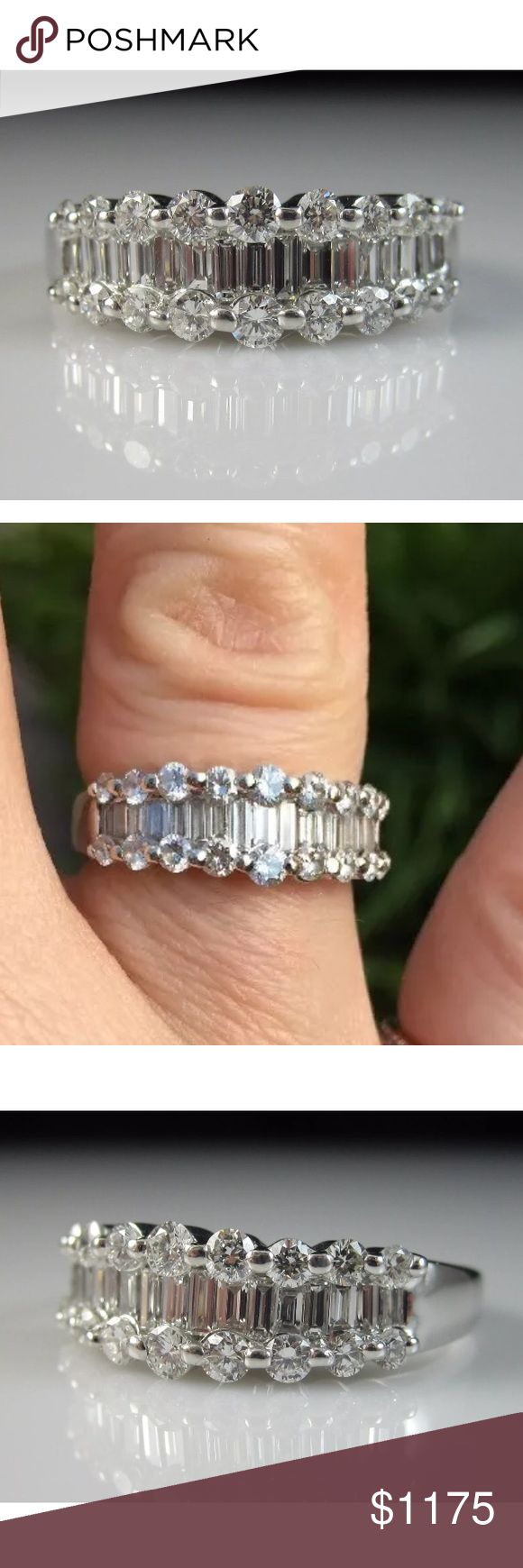 2 carat 14k white gold high quality diamond ring 2 carat 14k white gold high quality diamond ring! Retail over $4000!!! Jewelry Rings