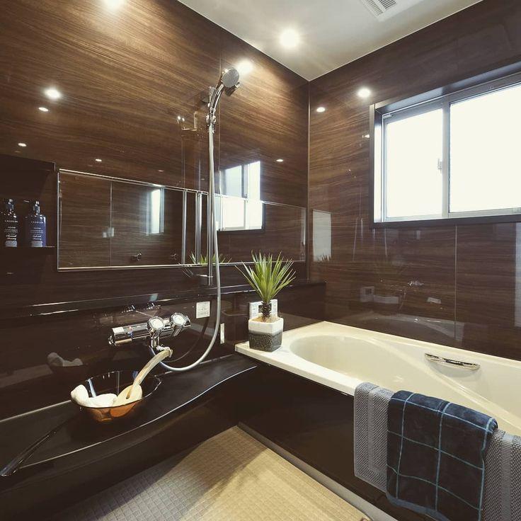 浴室 ワイドミラー Lixil ユニットバス 木目 浴室 おしゃれ バスルーム ユニットバス