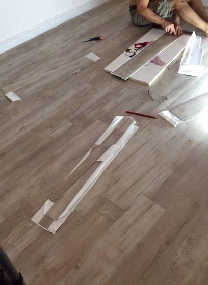 Poser un sol en lames vinyles adhésives #Gerflor  http://bambi-designdeco.blog4ever.com/poser-un-sol-en-lames-vinyles-adhesives