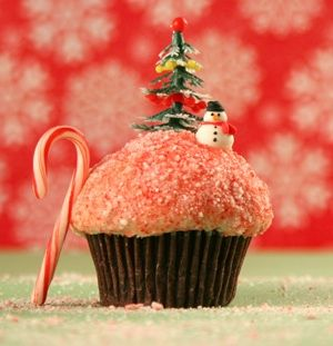 It's really only a little over 2 months away ~ Trophy Cupcakes adorable holiday 'cake!
