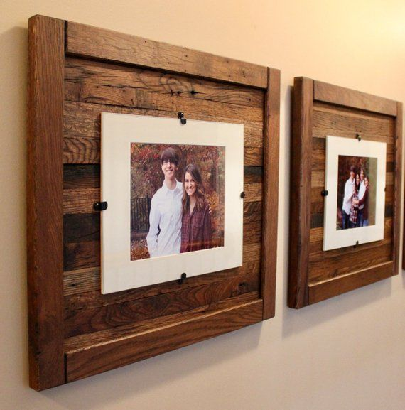 We Handcraft Our Rustic Frames Out Of Solid Reclaimed Oak Not Pallet Wood And Finish Them With Reclaimed Wood Picture Frames Rustic Frames Rustic Wood Frame