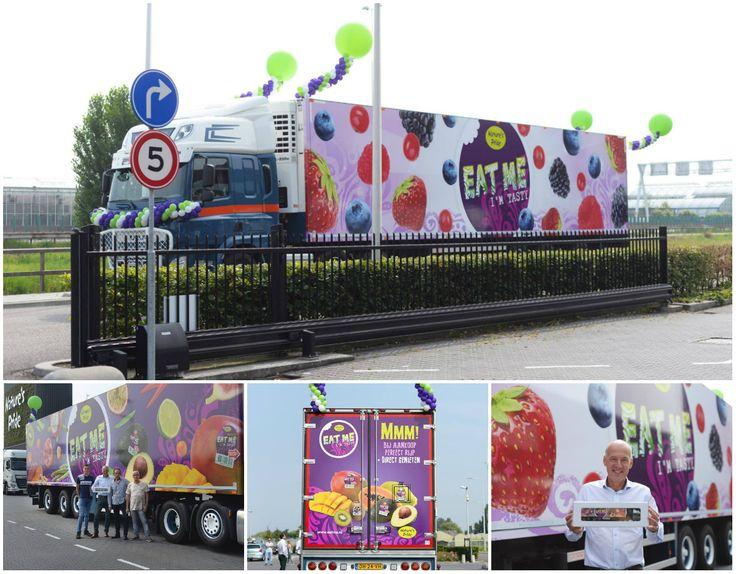 Voor Nature's Pride ontwikkelden we het dynamische design voor op de vrachtwagens. Je kunt ze nu spotten op de Nederlandse wegen.   #naturespride #eatme #design #ontwerp #vrachtwagen #bestickering #alterego #fruit #agf