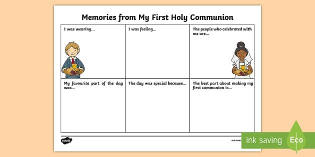 Free Printable First Communion Worksheets