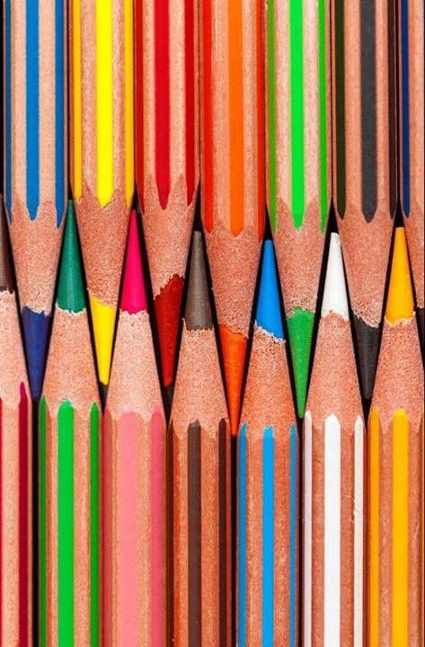 rainbow colours.... colouring pencils