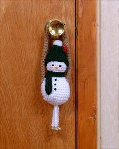 snowman door greeter free crochet pattern