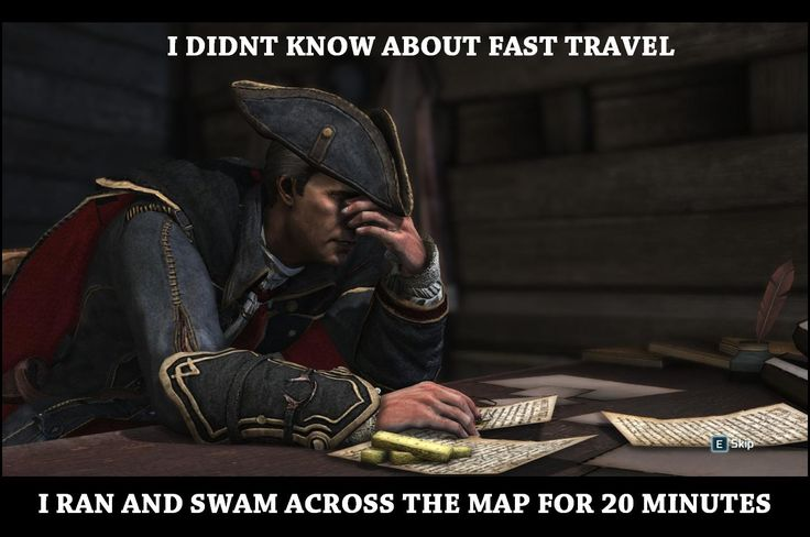 The first time I played Assassins creed 3