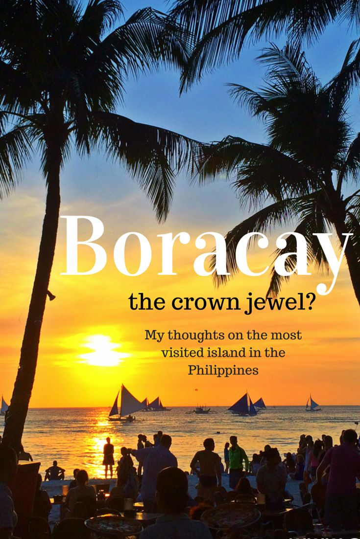 Boracay, the jown crewel in the Philippines-