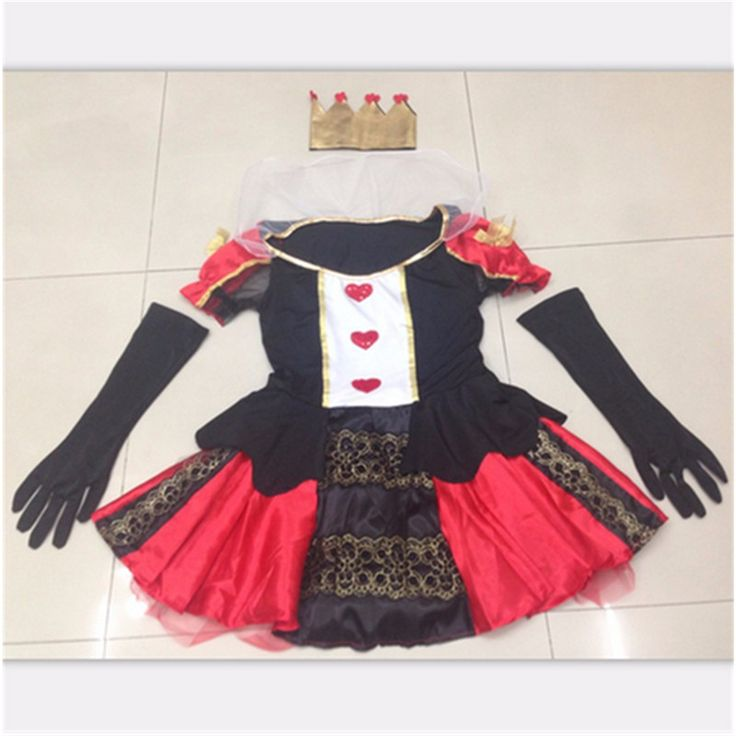 NEW high quality Sexy Queen of Hearts costume Halloween witch Adult Fancy cosplay Alice nightclub Club wear Party Women costumes